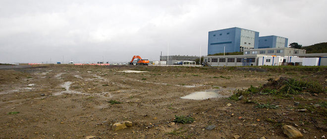 Hinkley Point, site du projet de deux réacteurs nucléaires EDF. Royaume-Uni, 2013.