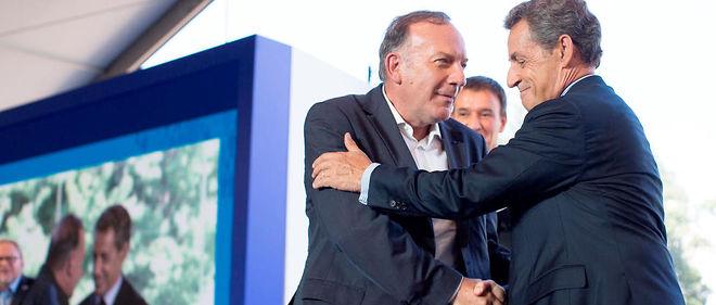 Nicolas Sarkozy et Pierre Gattaz, université d'été du Medef, HEC (Jouy-en-Josas), 31 août 2016.