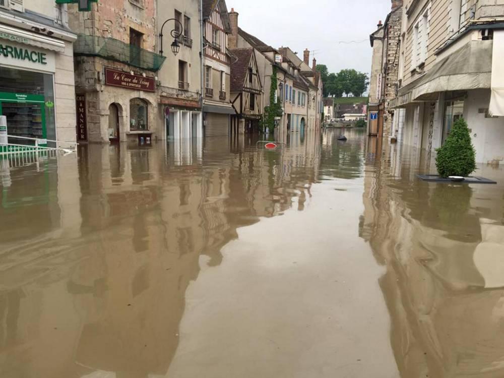 Nemours sous les eaux ©  Facebook Ville de Nemours