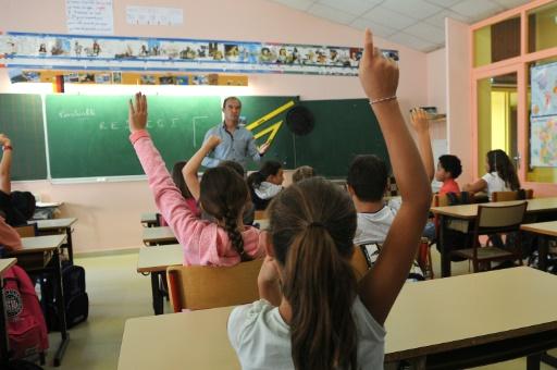 Rentrée scolaire dans une école primaire le 1er septembre 2016 à La Jarne près de La Rochelle © XAVIER LEOTY AFP
