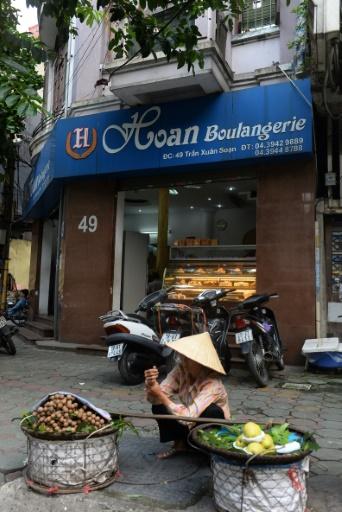 Une boulangerie dans me quartier français de Hanoï, le 30 août 2016 © HOANG DINH NAM AFP