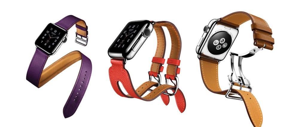 Nouveaux coloris et nouveaux bracelets pour l'Apple Watch Hermès.