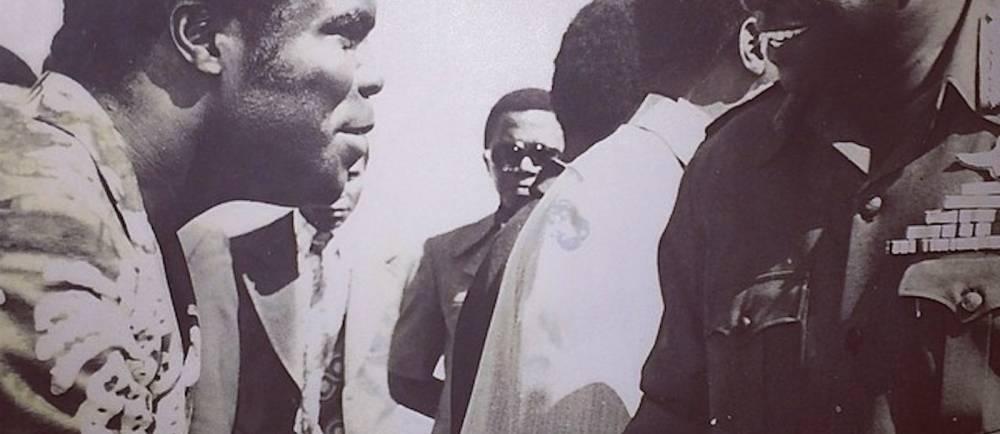 Le dictateur Ougandais Idi Amin Dada (à droite). ©  Kaysha