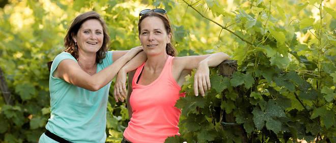 Anne Rouxelin et Sophie Raimbault, domaine Ansodelles (Bourgueil).