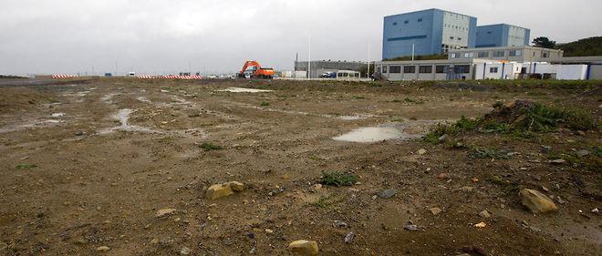 Photo du site de la future centrale nucléaire.