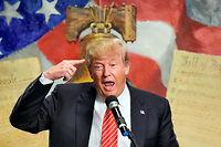 Le candidat de la primaire républicaine américaine Donald Trump. ©TIMOTHY A. CLARY