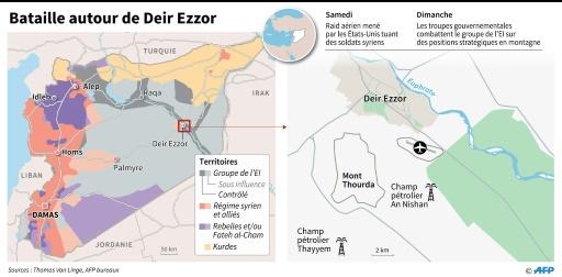 Bataille autour de Deir Ezzor © Jonathan JACOBSEN, Kun TIAN AFP