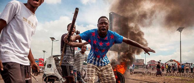 Des émeutiers à Kinshasa le 19 septembre 2016