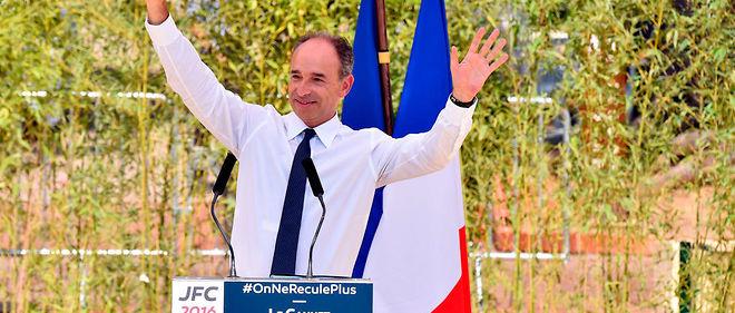 «JFC 2016». Jean-François Copé, candidat à la primaire de la droite et du centre de novembre, en meeting au Cannet (Alpes-Maritimes), le11septembre.