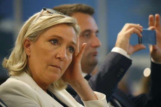 Marine Le Pen a Paris le 22 septembre 2016