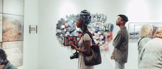 Exposition de la Galerie Axis, lors de la foire 1:54 à New York.