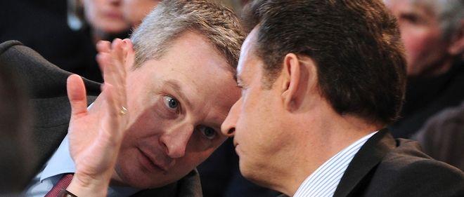 Nicolas Sarkozy et Bruno le Maire en 2011. La rumeur laisse entendre que le premier pourrait faire du second son Premier ministre. Une rumeur à laquelle Bruno Le Maire veut tordre le cou.
