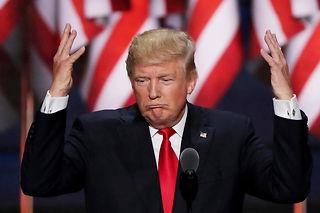 Donald Trump n'est pas encore le favori des parieurs du marché prédictif Hypermind-Le Point. ©ALEX WONG