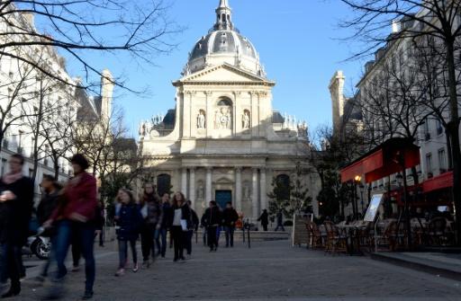 Vue extérieure en date du 5 mars 2015 de la Sorbonne à Paris © LOIC VENANCE AFP