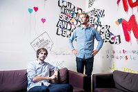 Hugo Mulliez et François-Xavier Trancart, Co-fondateurs de Artsper. Dans les locaux de leur start-up, paris 20e. ©Julien Faure