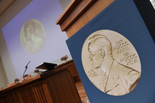 Un portrait d'Alfred Nobel à Stockholm, le 3 octobre 2016 © JONATHAN NACKSTRAND AFP/Archives