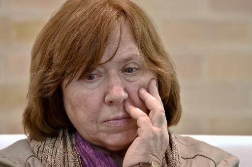 L'écrivaine Svetlana Alexievich, lauréate du prix Nobel de littérature 2015 à Bogota en Colombie le 20 avril 2016 © GUILLERMO LEGARIA AFP/Archives