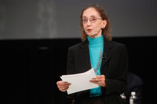 L'écrivaine américaine Joyce Carole Oates à New York le 11 octobre 2014 © THOS ROBINSON GETTY IMAGES NORTH AMERICA/AFP/Archives