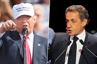 Donald Trump et Nicolas Sarkozy.Le marché prédictif Hypermind-Le Point permet d'observer un parallèle intéressant entre la primaire de la droite et du centre en France et l'élection présidentielle aux États-Unis. ©Gregg Newton / Mustafa Sevgi