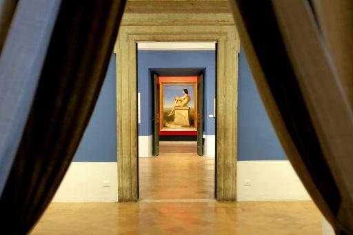 Une oeuvre de l'artiste Hippolyte Flandrin exposée à la Villa Médicis à Rome © ALBERTO PIZZOLI AFP