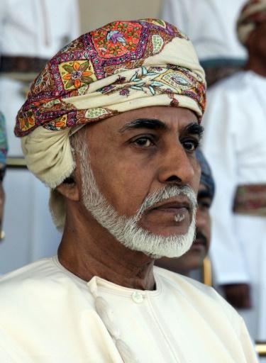 Le sultan d'Oman, Qabous Ben Said, le 1er janvier 2013 à Muscat © Mohammed MAHJOUB AFP/Archives