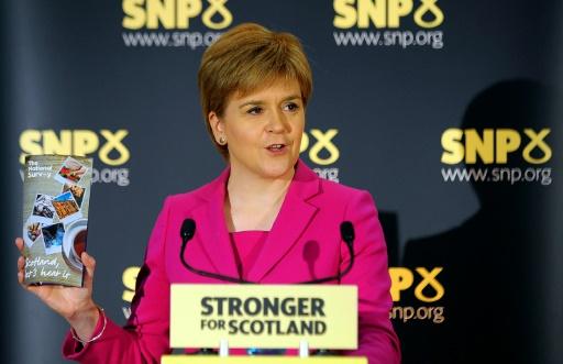 La Première ministre écossaise Nicola Sturgeon lors d'une conférence de presse, le 2 septembre 2016 à Stirling © Andy Buchanan AFP/Archives