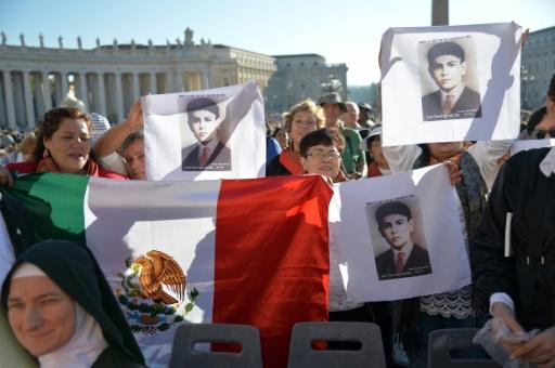 Jose Luis Sanchez del Rio (1913-1928), martyr de la persécution anticatholique au Mexique, a été canonisé le 16 octobre 2016 au Vatican © ANDREAS SOLARO                       AFP