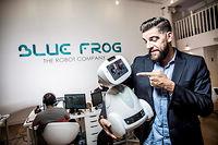 Rodolphe Hasselvander, fondateur et PDG de la start-up Blue Frog Robotics, concepteur du robot domestique Buddy, robot compagnon grand public. ©RGA/REA