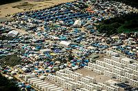 Le camp de migrants de Calais au mois d'août 2016. ©PHILIPPE HUGUEN