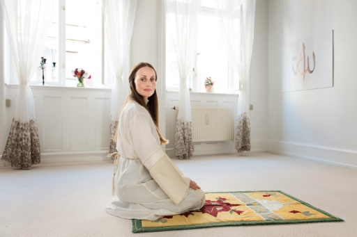 Une photo prise en 2016 montrant Sherin Khankan une imam dirigeant une mosquée de femmes au Danemark © Linda Kastrup Scanpix Denmark/AFP