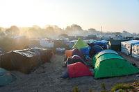 Des tentes de migrants dans la