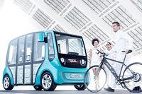 Mutualisation. Conçu par la société suisse Rinspeed, le microMAX préfigure ce que pourrait être une voiture de société partagée.