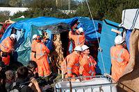 Démantèlement progressif de la jungle de Calais. ©DENIS CHARLET