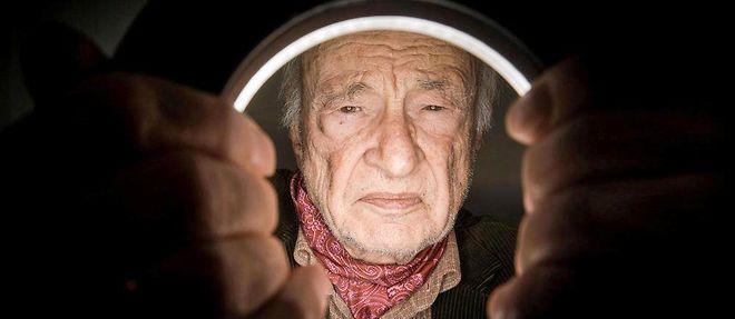 """Sage. Pour le philosophe et sociologue Edgar Morin, 95 ans (ici, en janvier), """"l'etre humain n'est pas une marchine triviale""""."""