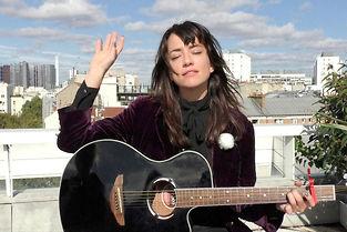 Liset Alea dans la Session sur le toit du Point Pop. ©Anne-Sophie Jahn