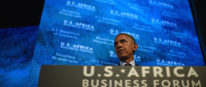 Barack Obama le 21 septembre 2016 a New York lors du US - Africa Business Forum au Plaza Hotel.