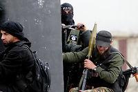 Les djihadistes du Front Al-Nosra à Alep en 2013. ©CITIZENSIDE/GUILLAUME BRIQUET