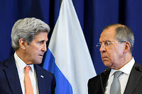 Sergei Lavrov et John Kerry le 9 septembre 2016. La coalition occidentale qui prétend combattre l'EI s'allie pourtant en Syrie avec les djihadistes