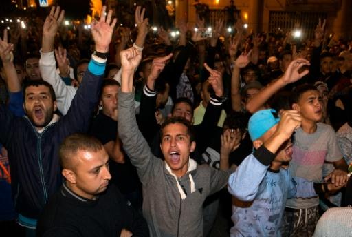 Des manifestants à Al Hoceima au Maroc, le 30 octobre 2016 © FADEL SENNA AFP/Archives