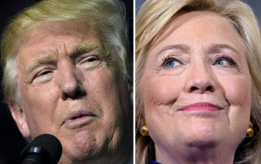 Combinaison de photos montrant le candidat républicain à la Maison blanche, Donald Trump en Virginie le 24 septembre 2016 et la candidate démocrate Hillary Clinton, le 21 septembre en Floride © DESK AFP/Archives