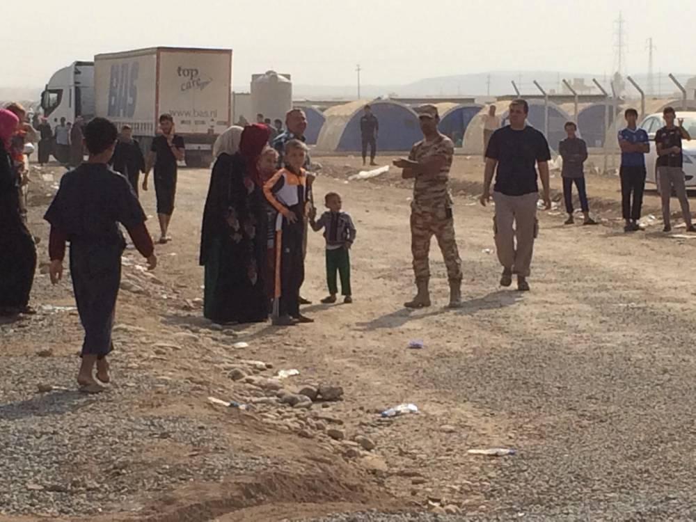 Camp réfugié Mossoul © Armin Arefi Le Point