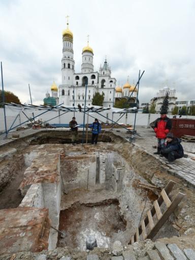 Les fouilles sous le Kremlin  © Natalia KOLESNIKOVA AFP