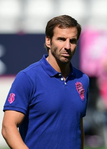 L'entraîneur argentin du Stade Français Gonzalo Quesada, le 10 septembre à Jean-Bouin avant le match de Top 14 face à Castres © FRANCK FIFE AFP/Archives