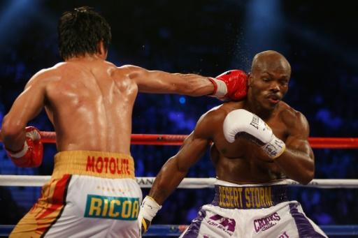 Manny Pacquiao, le 9 avril 2016 à Las Vegas lors de son combat face à Timothy Bradley Jr. © Christian Petersen Getty/AFP/Archives