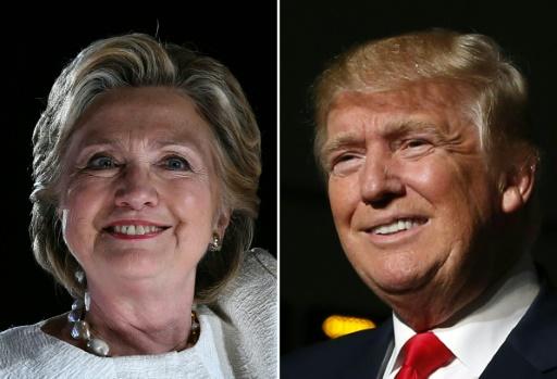 Le dernier sondage NBC/Wall Street Journal donne quatre points d'avance à Hillary Clinton face à Donald Trump au niveau national mais la moyenne des différents instituts pointe vers un score plus serré © JEWEL SAMAD, JEFF KOWALSKY AFP/Archives