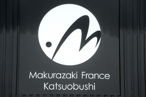 Le logo de Makurazaki France, une entreprise qui fabrique de la bonite séchée en France, me 21 octobre 2016 © FRED TANNEAU AFP