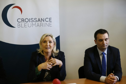 Marine Le Pen et Florian Philippot déconseillent à leurs électeurs de participer à la primaire de la droite © PATRICK KOVARIK AFP/Archives