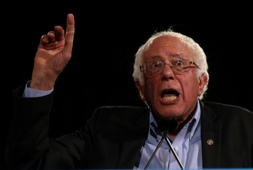 Bernie Sanders, lors d'un meeting de campagne intervient pour soutenir Hillary Clinton, le 3 novembre 2016 à Raleigh © JUSTIN SULLIVAN GETTY IMAGES NORTH AMERICA/AFP/Archives