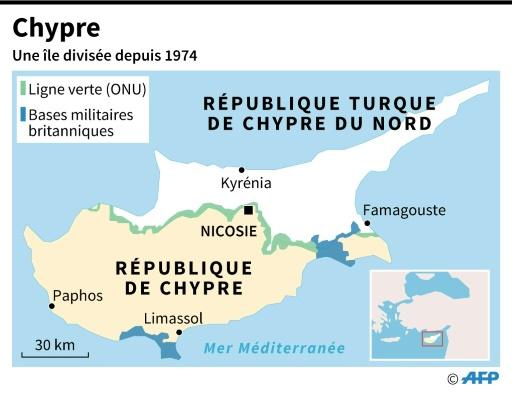 Chypre, une île divisée depuis 1974 © Paz PIZARRO, Aude GENET AFP