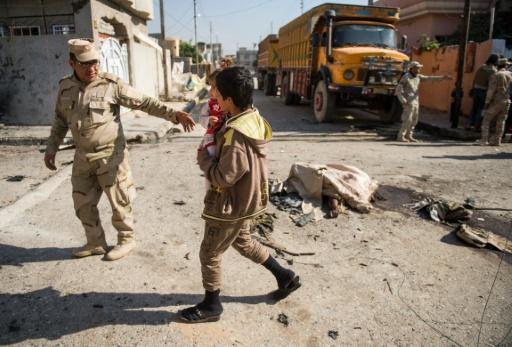 Des soldats irakiens à Mossoul, le 6 novembre 2016 © Odd ANDERSEN AFP